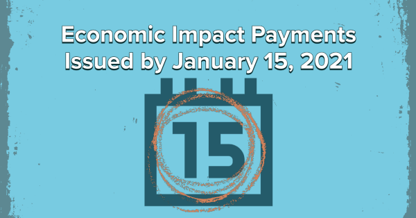 Economic Impact Payments Issued by January 15, 2021
