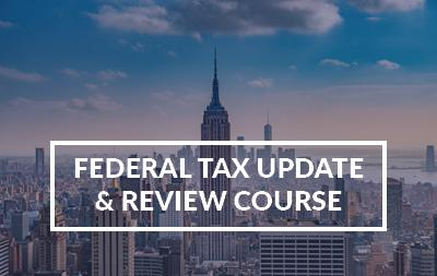 2020 New York, NY - Federal Tax Update & Review Course