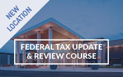 2020 Federal Tax Update and Review Course - Springfield