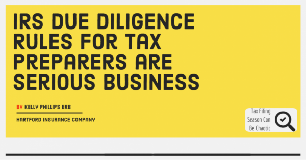 IRS Due Diligence Rules for Tax Preparers are Serious Business