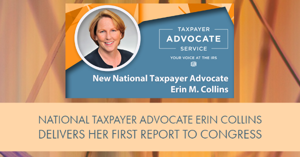 National Taxpayer Advocate Erin Collins Delivers Her First Report to Congress