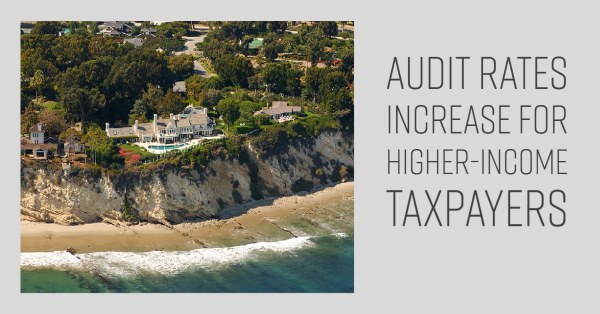 Audit Rates Increase for Higher-Income Taxpayers