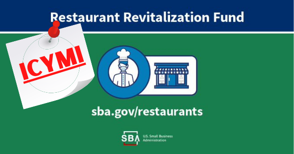 ICYMI: Restaurant Revitalization Fund